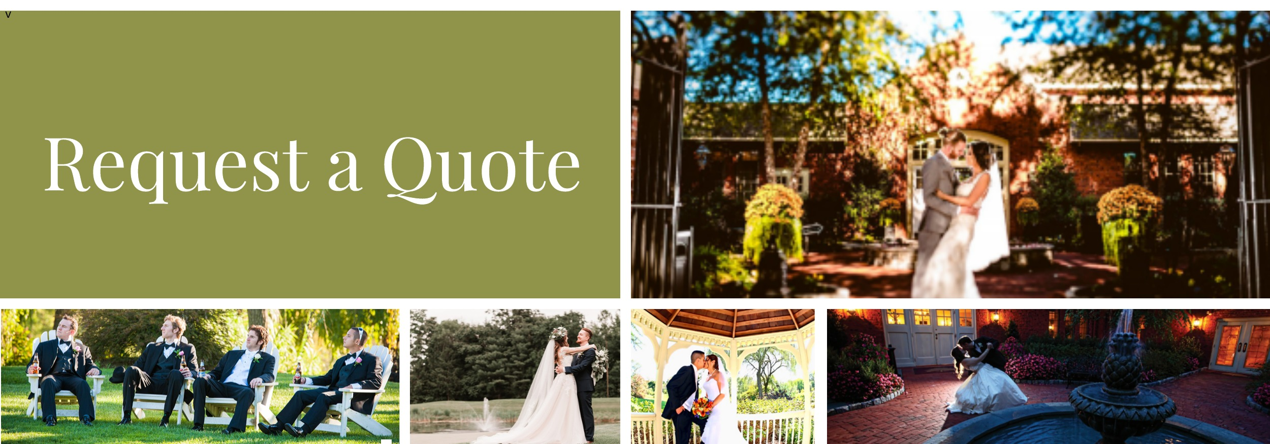 request quote for weddings at Talamore